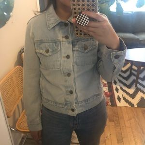 american apparel | unisex light wash denim jacket